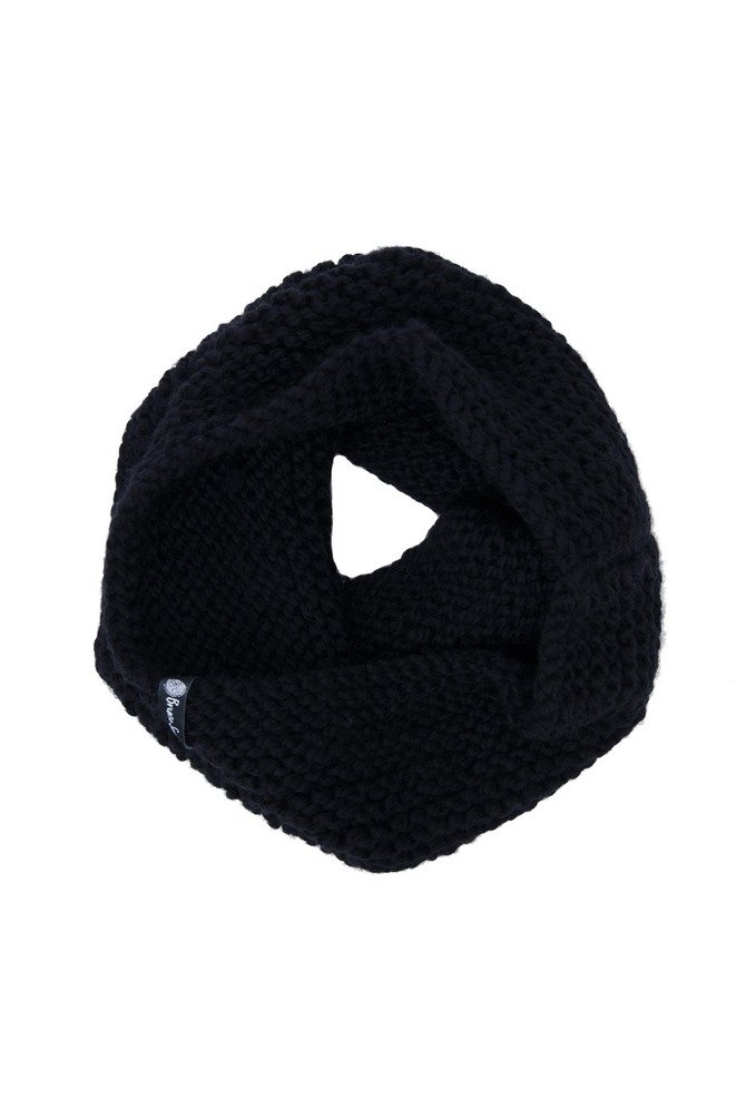 CHUNKY COWL ALPINE WOOL BLACK.