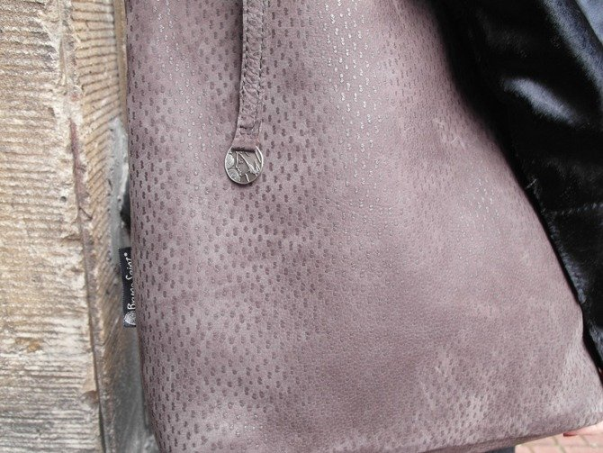 Leather brown shopperbag NO.127