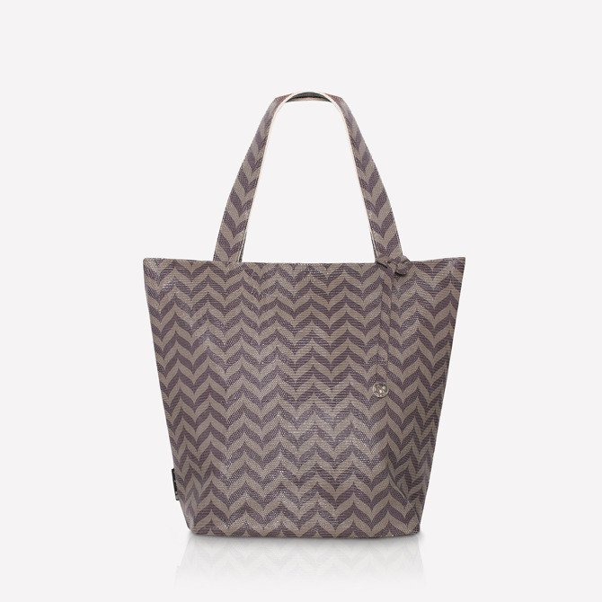 Leather shopper bag  chevron NO.108