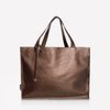 Leather dark gold shopper bag  XL NO.144