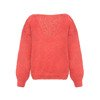 Mohair oversized sweater balloon coral - coloured knitted by hand NO.304
