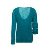 Silk soft gauzy turquoise sweater knitted by hand NO.306